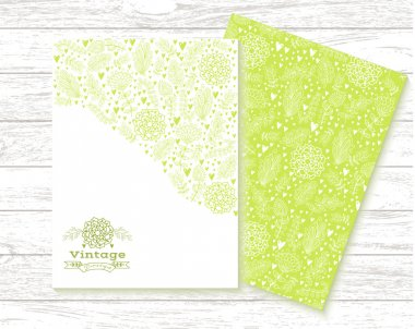 Floral cards in vintage style