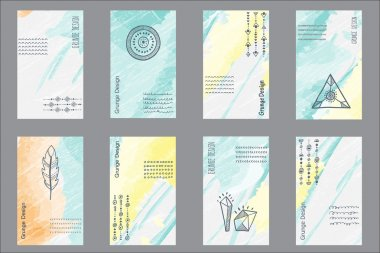 Set of 8 creative universal cards
