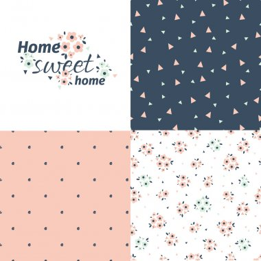 Sweet home set of  patterns