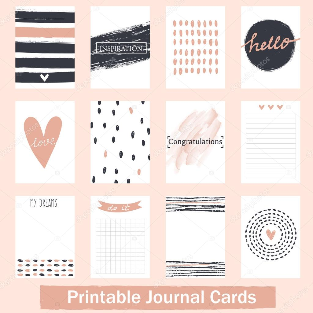 photograph relating to Printable Journals named Printable Publications Playing cards Inventory Vector © Virina28 #90888340