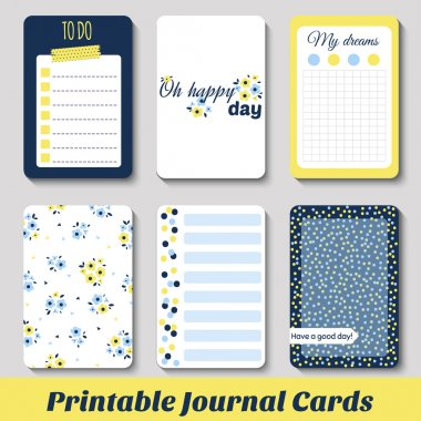 Printable Journals Cards