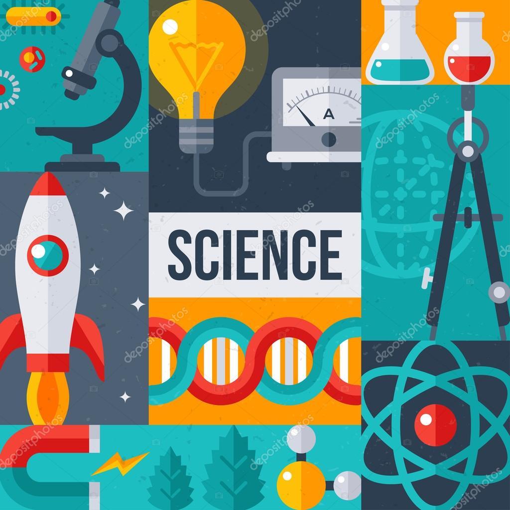 Cartel creativo de investigación de laboratorio de ciencia ...