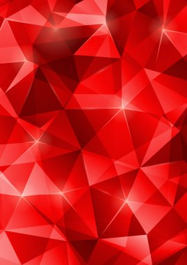 Red crystal abstract pattern. Vector illustration.
