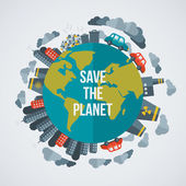 Kreatives Konzept Save the Planet