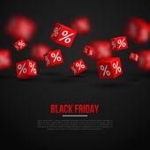 Schwarzer Freitag-Verkauf-Poster. Vektor-illustration