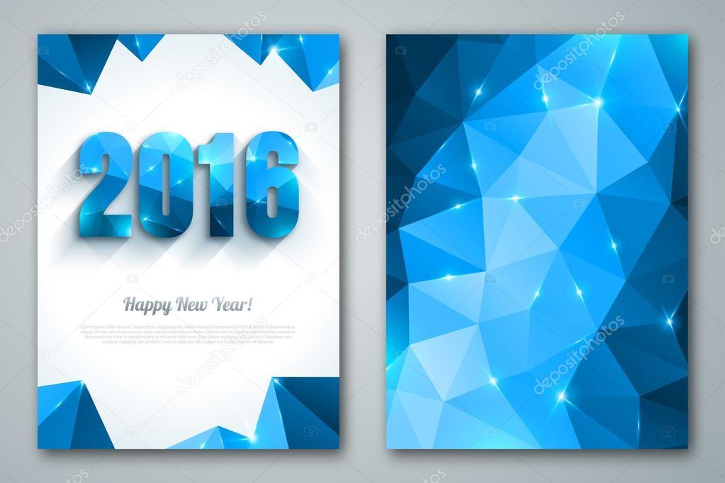 Дизайн открыток новый год