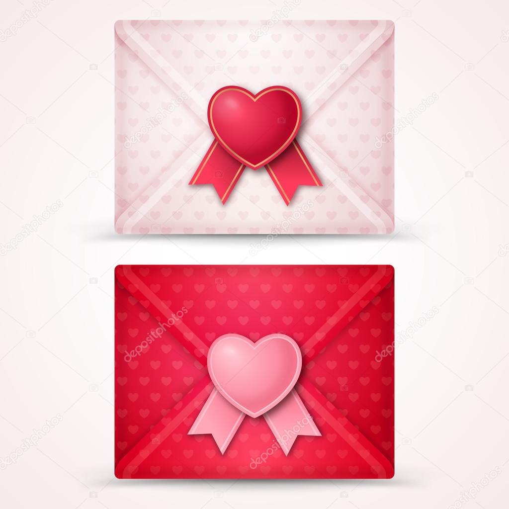 Happy Valentines Day Envelopes Stock Vector C Kotoffei 91930142