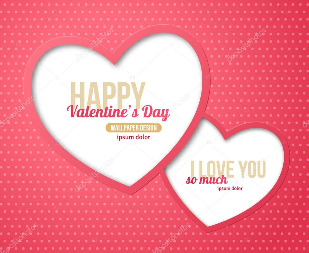 Happy Valentines Day Greeting Card Stock Vector Kotoffei 92977448