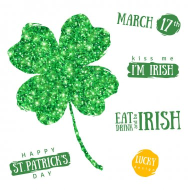 Happy St. Patricks Day Greetings Typography