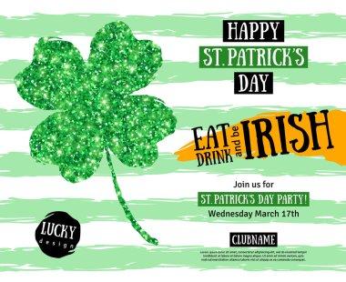 St. Patricks Day Pub Party Invitation template