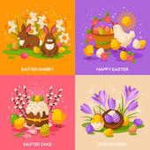 Satz von Frühling Ostern Urlaub Konzepte