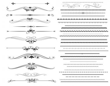 Ornamental rule lines in different design.Vector.