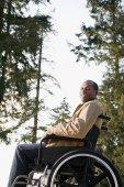 Fotografie Behinderte Menschen mit einem Rollstuhl