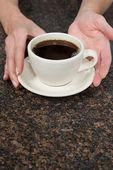 Fotografie Osoby podniku káva pohár
