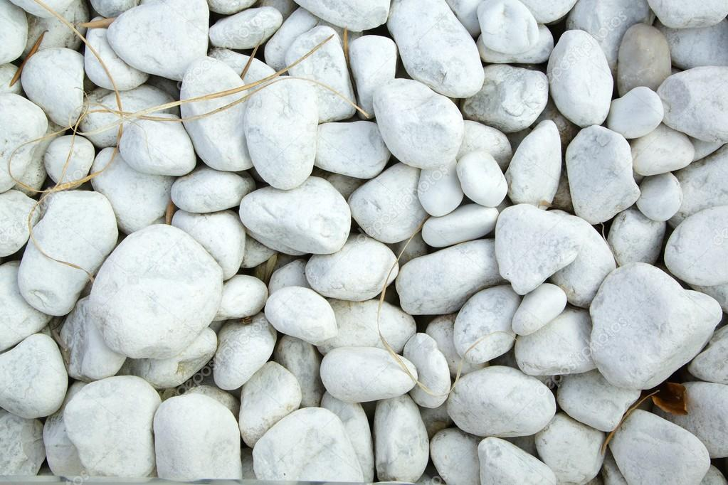 vita stenar dekoration