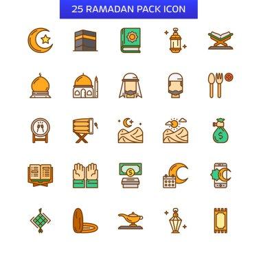 Islamic religion icon set. Ramadan icon pack icon