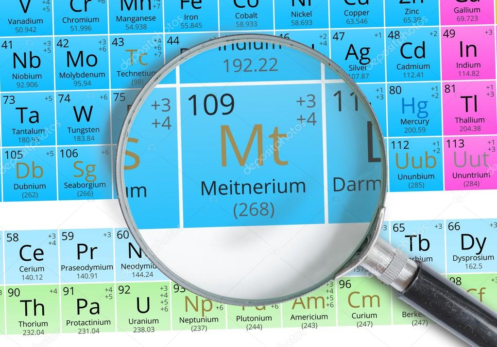 Meitnerium symbol mt element of the periodic table zoomed with meitnerium symbol mt element of the periodic table zoomed with magnifying glass stock urtaz Gallery
