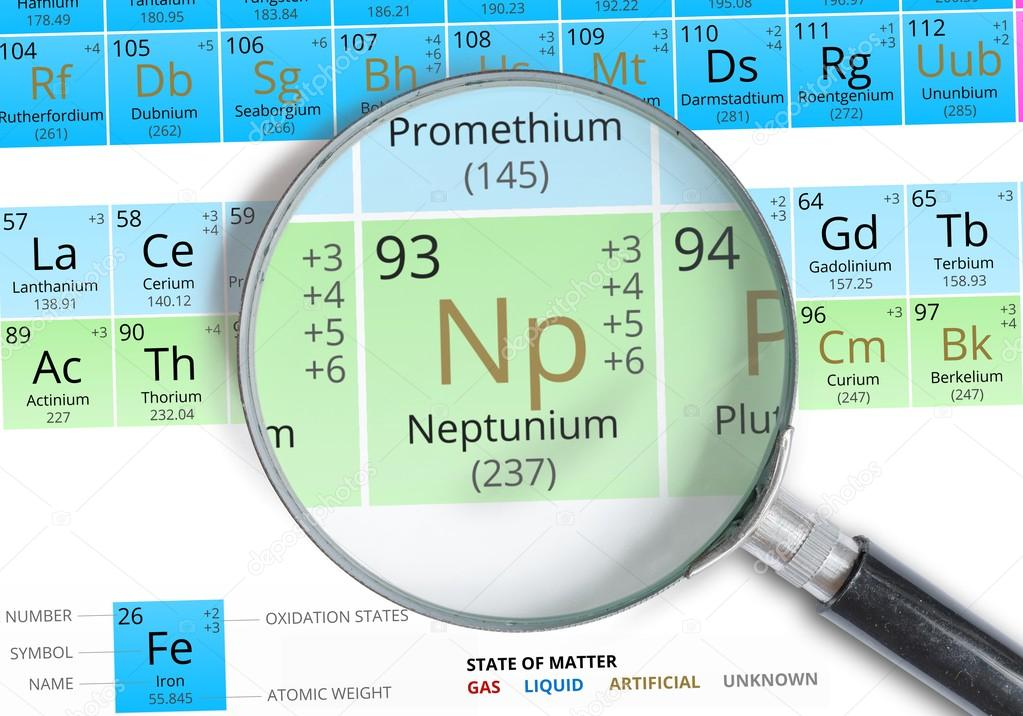 Neptunium symbol np element of the periodic table zoomed with neptunium symbol np element of the periodic table zoomed with magnifying glass stock urtaz Images
