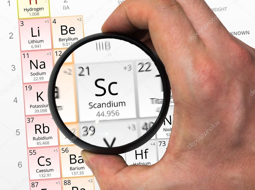 Scandium symbol sc element of the periodic table zoomed with scandium symbol sc element of the periodic table zoomed with stock photo urtaz Images