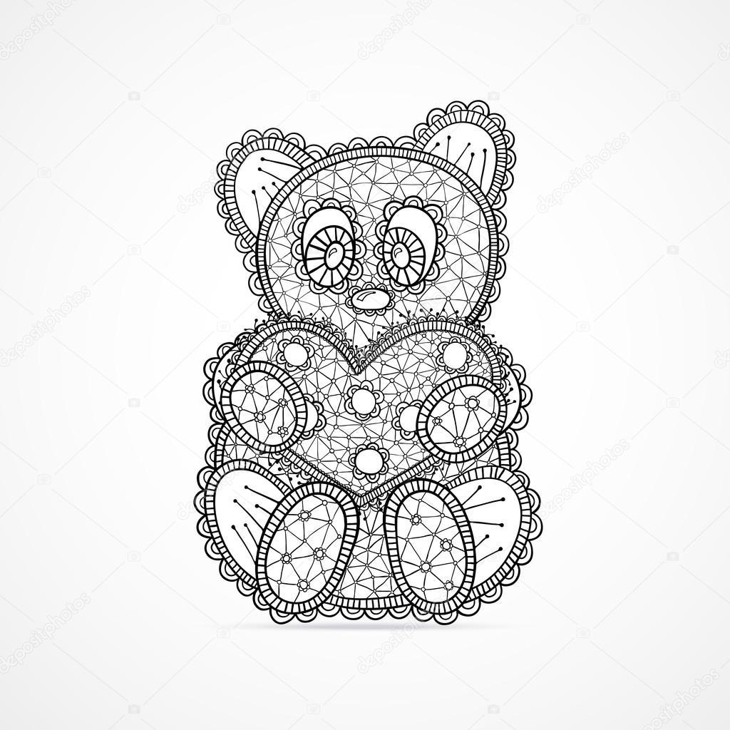 Bear Holding Heart On Valentine S Day Stock Vector C Redpanda