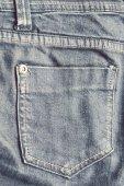 Staré modré džíny s kapsami