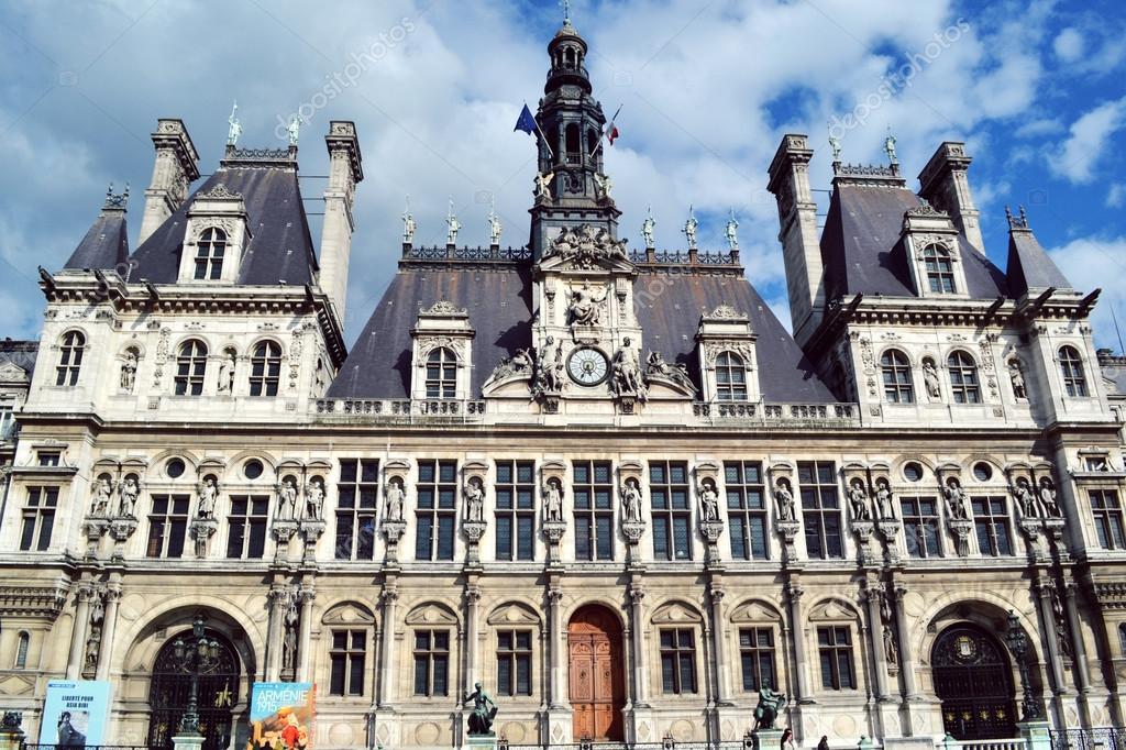 Paris france 25 may 2015 paris city hall called hotel for Hotel deville paris