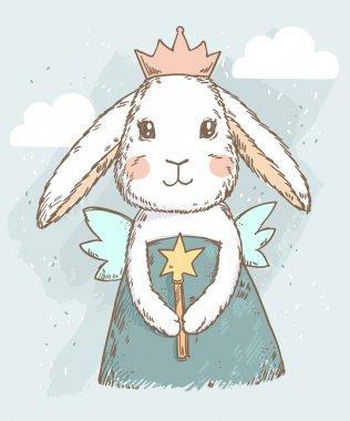 fairy rabbit with magic wand