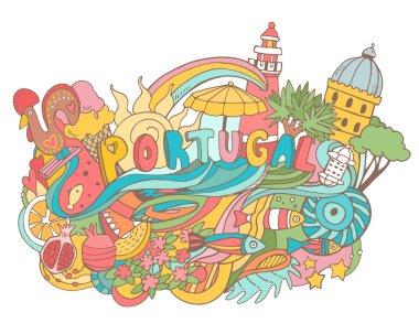 Portugal cartoon elements