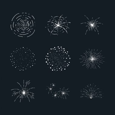 Vector fireworks elements