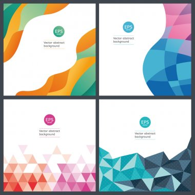 Vector geometric backgrounds.