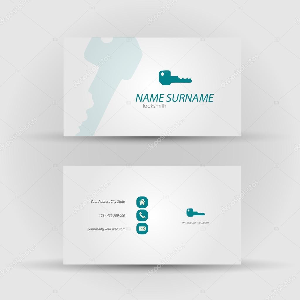 business card - locksmith — Stock Vector © michalsochor #54391851