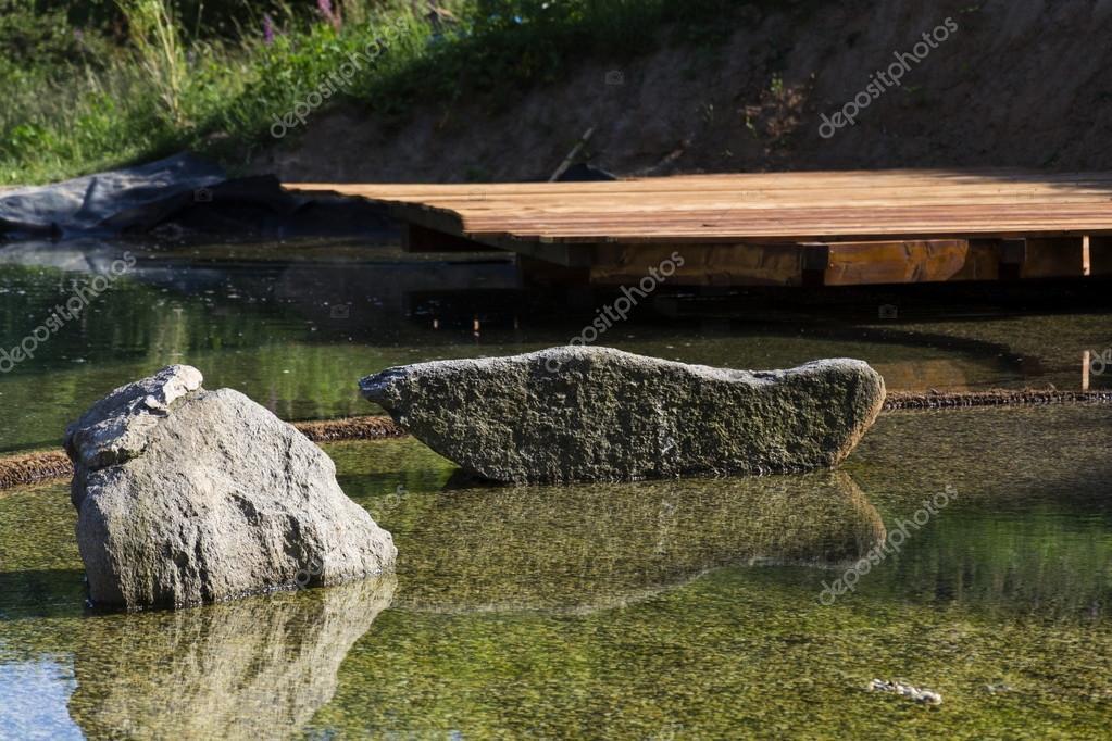 Estanque de la piscina natural purificador agua sin for Filtro piscina natural