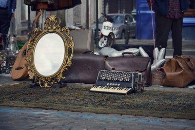 Flea market in Brussels, Belgium