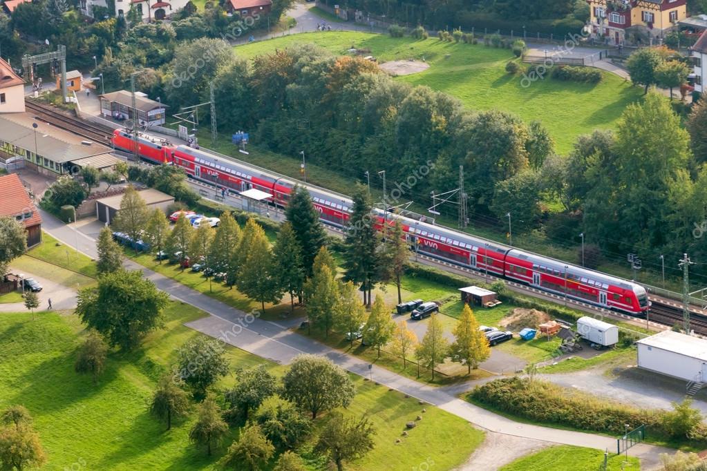 Passenger train running