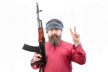 bearded man in turban
