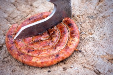 sausage in form of spiral