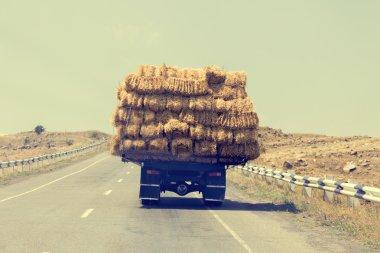 Truck carries briquettes