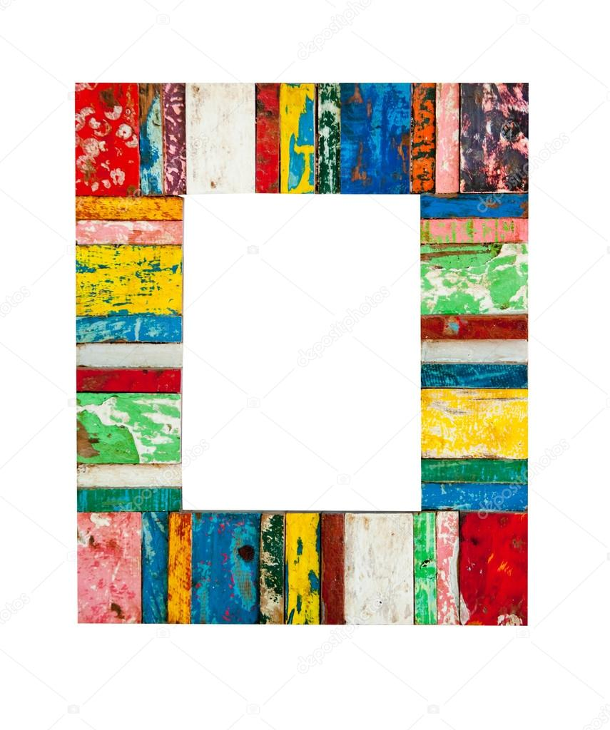 Marco de madera pintado — Foto de stock © watman #67614765