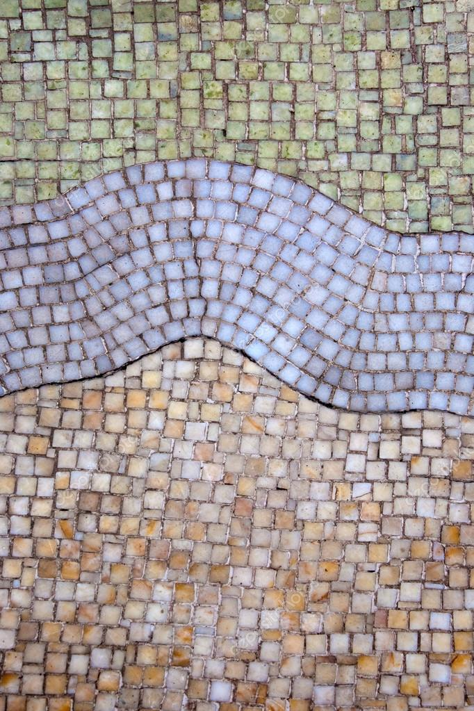 Btick mosaico pared — Foto de stock © watman #67615649