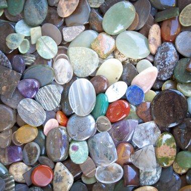 Multicolored stones pebbles