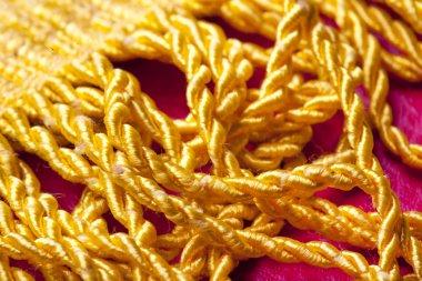 Golden fringe background