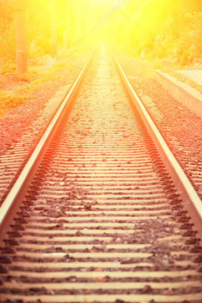 Railway perspective view