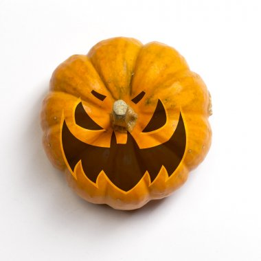 Pumpkin with carved face of Scary Jack