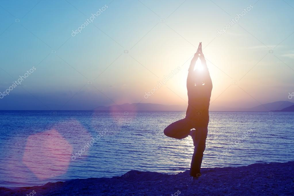 Young woman engaged in yoga