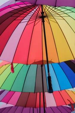 Colorful variety umbrellas