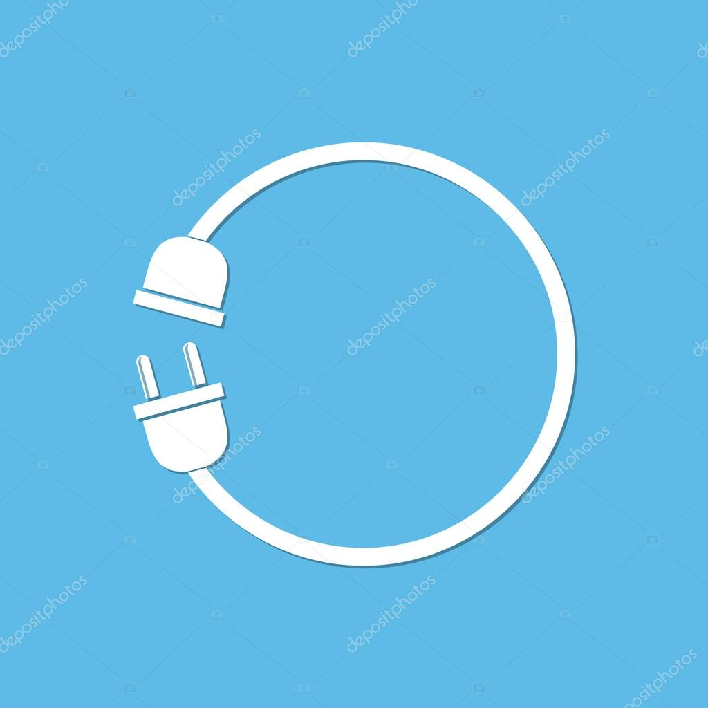 Wire plug with socket - vector illustration. — Stock Vector ...