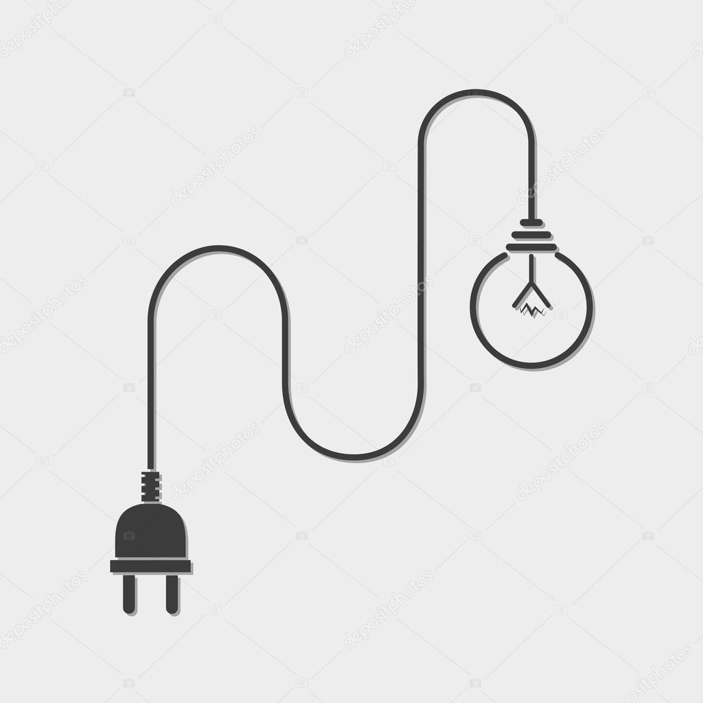 Light Bulb And Plug on hair dryer and plug, money and plug, screw and plug, radio and plug, wire and plug, light switch and plug,