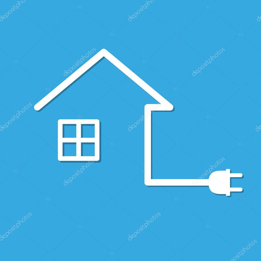 House with wire plug vector illustration stock vector chekman1 house with wire plug vector illustration stock vector asfbconference2016 Image collections