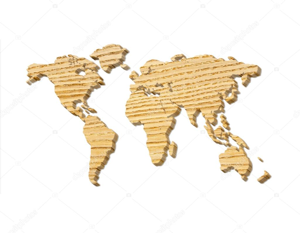 World map carving on wood plank stock photo chekman1 58614277 illustration of a wooden detailed world map wooden silhouette maps of the world photo by chekman1 gumiabroncs Images