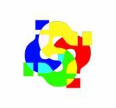 otazníky barevné